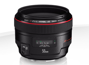Canon 50 mm  f.1.2